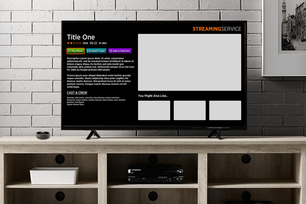 Streaming Service Screen