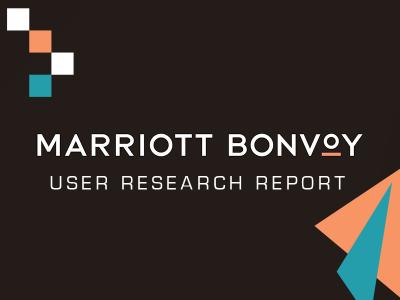 Marriott Bonvoy User Research