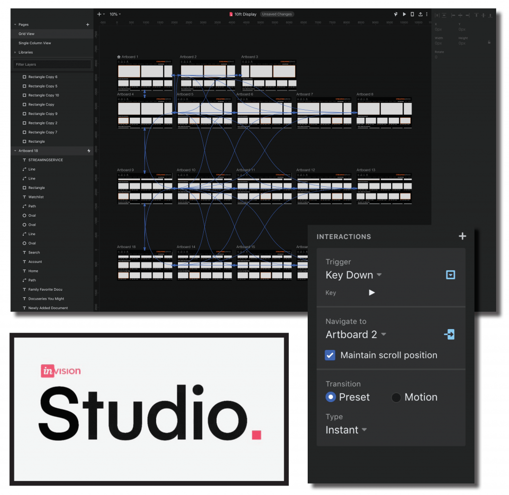 Streaming Service Screen Prototyping